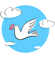 dove with letter vector image