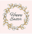 easter great religious holy holiday wreath vector image vector image