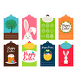 easter tag collection vector image