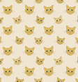 faces of yellow cats - seamless kid pattern vector image
