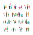 Family flat style icons vector image