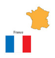 flag and outlines of france vector image
