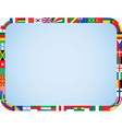 flags frame with rounded corners vector image vector image