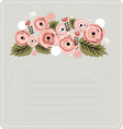 Floral stationary background