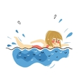 girl swimming on pool in summer vacation vector image vector image