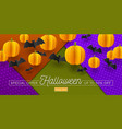 halloween sale design promotion template banner vector image vector image