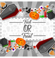 halloween sticker with white and black background vector image vector image