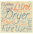 How to Prevent Clothes Dryer Fires text background vector image vector image