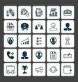 human icons set collection of coin briefcase vector image vector image
