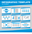 Infographic template in blue color vector image vector image