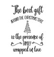 inspirational christmas quote vector image vector image