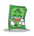 joy face dollar character cartoon style vector image vector image