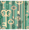 Key pattern green vector image vector image
