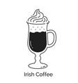 line art irish coffee glass