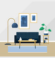 living room cozy apartment vector image vector image