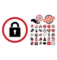 Lock Keyhole Flat Icon with Bonus vector image vector image