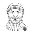 man character - coloring page for adults vector image vector image