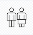 man woman or couple icon on transparent background vector image vector image