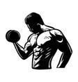 n bodybuilder holding dumbbler for business club vector image