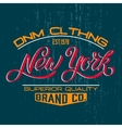 New York design print vector image vector image