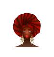 nigerian headtie portrait african american woman vector image vector image