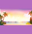 no people sea tropical beach summer vacation vector image