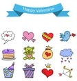 Object valentine day stock collection vector image vector image