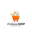 online shop logo design icon shopping logo design vector image vector image