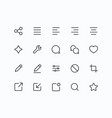 outline icons for web and mobile thin 2 pixel vector image