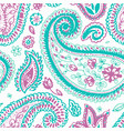 paisley pattern floral indian flower vector image vector image