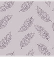 pastel seamless pattern with hand drawn leaves vector image vector image