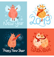 piggies new year design concept vector image vector image
