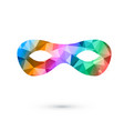 rainbow color polygonal party mask elegance vector image