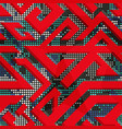 red geometric seamless pattern vector image vector image
