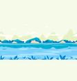 river flow game background flat landscape vector image vector image