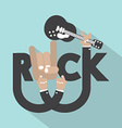 Rock Typography Design vector image vector image