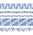 russian traditional elements set horizontal vector image