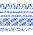russian traditional elements set of horizontal vector image vector image