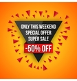 Sale special offer 50 off vector image vector image