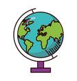 school globe map vector image