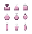 Set of different perfume bottles in vector image vector image