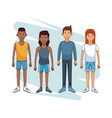 set of young people vector image vector image