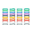 set ribbons in flat colors banners ribbons set of vector image vector image