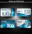 Shiny gift cards vector image