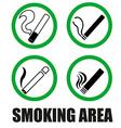 Smoking area symbols vector image