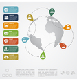 social network infographic2 vector image vector image
