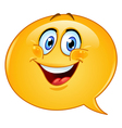 speech bubble emoticon vector image
