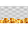 stacks coins lot golden coins isolated vector image vector image