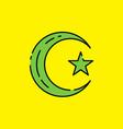 symbol islam icon vector image vector image