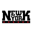 T shirt typography New York stars vector image vector image